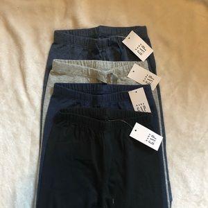 LOT of 4 Baby Sweatpants/ Leggings NWT GAP